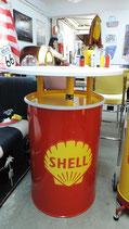 Shell Gasoline Stehtisch/Ölfass