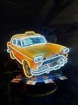 "New York ""Yellow Cab"" Taxi Neon Licht Werbung Reklame USA Leuchtreklame"