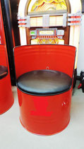 1 Ölfass-Sessel (Modellbeispiel) Viele andere Design möglich.
