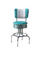 1 Diner-Barhocker BS-28-66CB turquoise