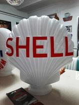 Shell Muschel Globe aus schwerem Glas hochw. Deko Tankstelle Oldtimer Halle