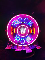 Rock´n Roll Neon Werbung Schallplatten Reklame Laden Licht Leuchtwerbung