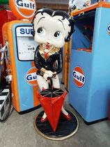 Betty Boop Figur Skulptur Schirmständer GFK Deko Kundenfänger Dekoration