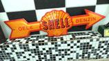 Shell Pfeil Oel Benzin Gasoline Emailleschild