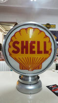 Shell Aluminium-Globe/Lampe Sehr hochwertig Lampe aus Metall.