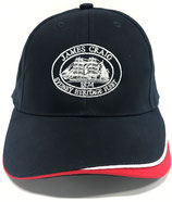 Cap with James Craig logo and red flash