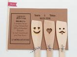 Hochzeitsgeschenk Pfannenwender 3-teilig plus Karte