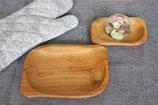 1 Stück Holzteller ca.22x16,50 cm /größere/