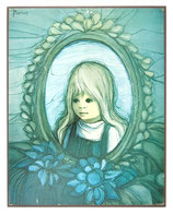 70er Jaklien Moerman Bild Mädchen im Spiegel