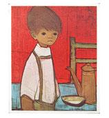 60er Mini Wandbild Jaklien Moerman Junge mit Hosenträgern