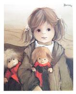 Jaklien Moerman Bild Mädchen mit Puppen 1982