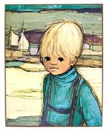 70er Jaklien Moerman Bild Junge am Meer