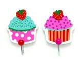 2er Set Kleiderhaken Cupcake