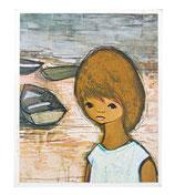 60er Mini Wandbild Jaklien Moerman Mädchen mit Booten