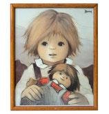 80er Jaklien Moerman Bild Mädchen mit Puppe