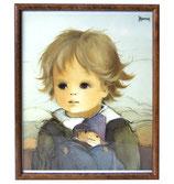 80er Jaklien Moerman Bild Junge mit Puppe