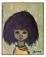 60er Wandbild Jaklien Moerman Mädchen Gelbes Shirt