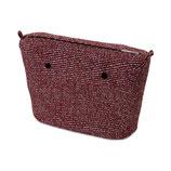 O Bag Mini Insert Fabric Diagonal Stripes Red