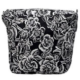 Canvas Inner Bag in Black with Flowers