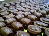 Sans sucre Ballotins, Plaquettes ou caraques (dinosaures, elephant etc ..) de Chocolat MALCHOC : Chocolat Noir