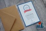 Invitación Barco de papel