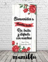 Cartel Rosas rojas