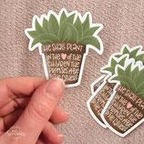 "Sticker ""Plant in hearts"""