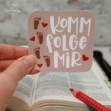 "Sticker ""Folge mir"""