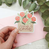 "Sticker ""loved"""