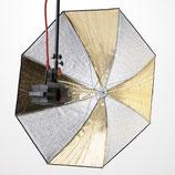 Schirm Weiß/Gold 110 cm