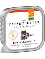 """Defu Lamm Katze """"Sensitiv"""" Paté - getreidefrei, glutenfrei - 16 x 100 gr."""