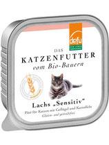 "Defu Lachs Katze ""Sensitiv"" Paté - getreidefrei, glutenfrei - 16 x 100 gr."