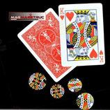 Cartes Roi avec Aimant + Pastilles autocollantes pour pièces