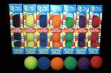 BOITE 4 BALLES ÉPONGE 1.5 INCH SUPER SOFT ROUGE-VIOLET-BLEU GOSHMAN