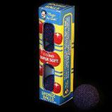 BOITE 4 BALLES ÉPONGE  1 INCH - SUPER SOFT NOIR- ROUGE- BLEU- GOSHMAN