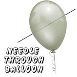 AIGUILLE A TRAVERS LE BALLON - Needle Throug Balloon de chez Royal Magic