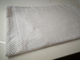Tipi Zelstoff weiß graue Punkte