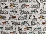Jersey Baufahrzeuge weiß