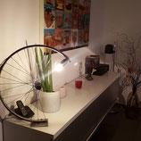 Lampe aus alter Fahrradfelge
