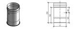 Труба 250 мм с отверстием для измерений, до 200°С, Jeremias FU112