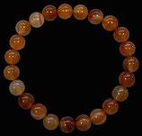 Cornaline, qualité +, bracelet en perles de 8 mm