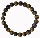 Oeil de tigre, qualité +, bracelet en perles de 8 mm