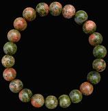 Unakite, bracelet en perles de 8 mm