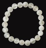 Sélénite, qualité +, bracelet en perles de 8 mm