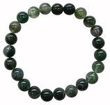 Agate mousse, qualité +, bracelet en perles de 8 mm