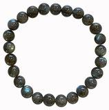 Labradorite, qualité ++, bracelet en perles de 8 mm