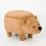 Beige beren pouf met opbergruimte
