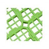 Bodemrooster, groen 25x25cm uit plastic