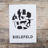 3er-Set Bielefeld-Collage | Postkarte