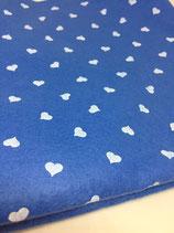Pannolenci 1mm azzurro cuori bianchi 45X50